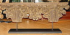 Striking Carved Wooden Headboard mounted 19th Cent.