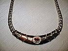 18K. Herring Bone Ruby & Diamond Necklace