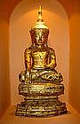 Superb Papier-Mache Gilt Shan Buddha, 19th Cent.