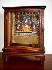 Rare Siamese Miniature Shrine/Display Cabinet, 19th C.