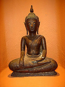 Ayutthaya Bronze Buddha, 17th-18th Cent. Siam