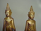 "Rare Pair 19th Cent. Thai Buddhas ""Calling for Rain"""