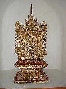 Rare 19th Century Miniature BUDDHA'S THRONE,  Burma