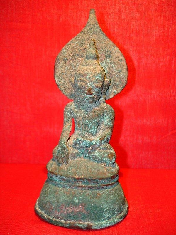 Extremely Rare MON Bronze Buddha 17th Cent. Burma