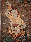 Tempera Scroll Wall Hanging with Angels, Thailand