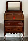 English Colonial Teak Desk, 19th Cent.