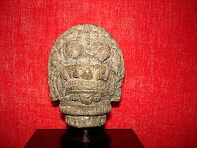 Khmer Bronze Lion Head, post Bayon Angkor Wat, 13th C.