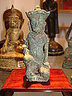 ANGKOR Period Bronze of VISHNU or a GUARDIAN of UMA 12/13th Cent.