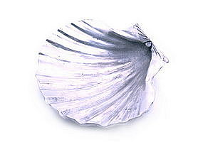 Pewter Sea Shell Tray-Dish