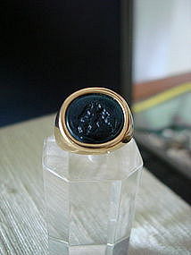 Neo-Classical Intaglio Ring depicting God Pan or Faun