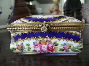 Period Sevres Porcelain handpainted Dresser/Jewelry Box