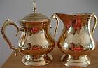 Polished Brass Cream and Sugar Tea Set
