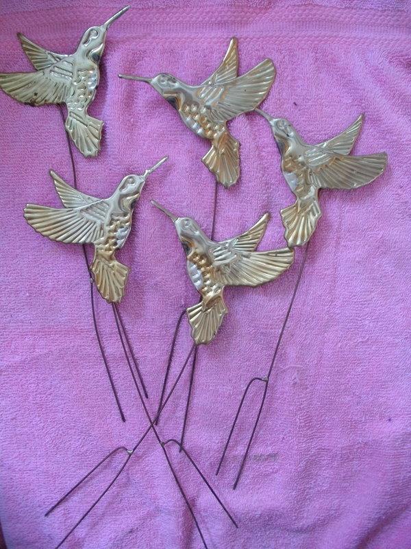 Vintage Brass Hummingbirds