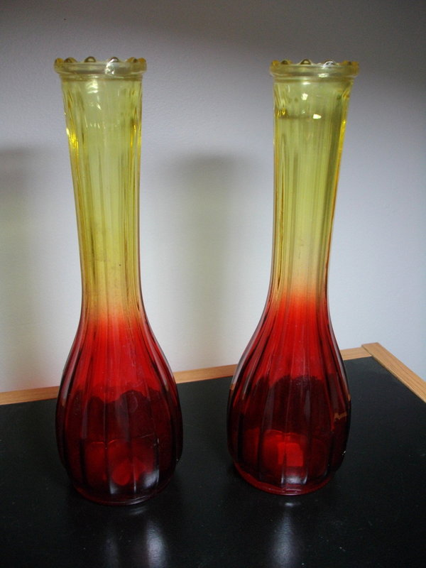 Amberina Glass Vases