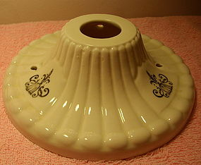 Ceramic Ceiling Light Fixture with Fleur De Lis