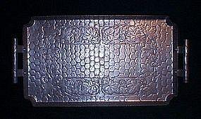 WorldHand Forged Aluminum Handled Tray