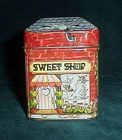 Enesco Sweet Shop Coin Bank Tin