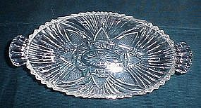 Hazel Atlas Star and Fan Relish Dish