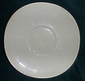 Crooksville China White Saucer