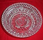 Pinwheel Pattern Glass Bowl