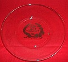 25th Silver  Anniversary Silver and Glass Plate