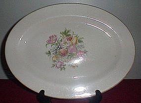 Harker Bakerite Fruit Basket Platter