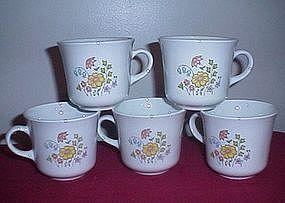 Corning Meadow Pattern Coffee Cups