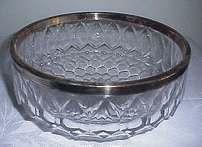 Crystal Bowl w/Silverplate Rim ASCI Germany