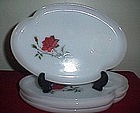 Federal Glassware Rose Crest Snack Trays