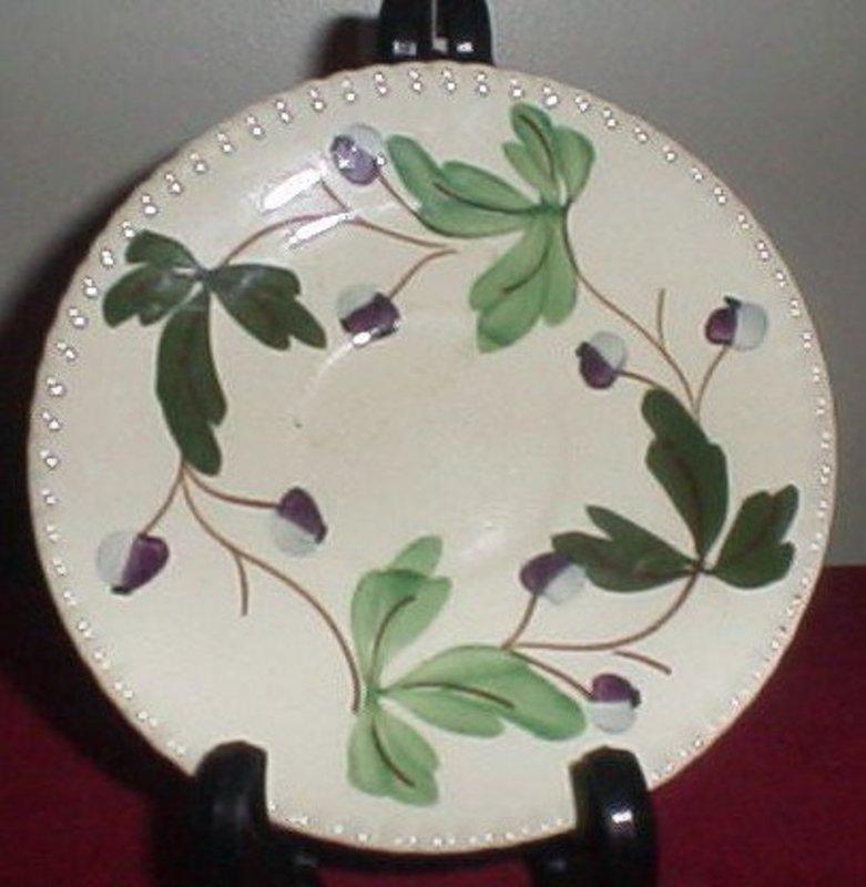 Blue Ridge  Mountain Ivy Pattern Saucer