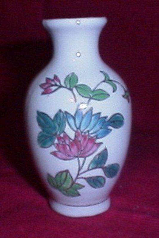 Miniature Ceramic Lotus Blossoms  Urn