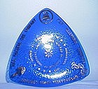Chamber of Commerce Commerative Blue Glass Dish