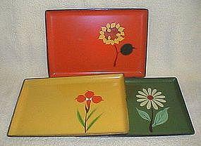 1960's Art Deco Snack Trays
