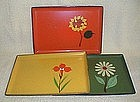 1960's Art Deco Snack Trays