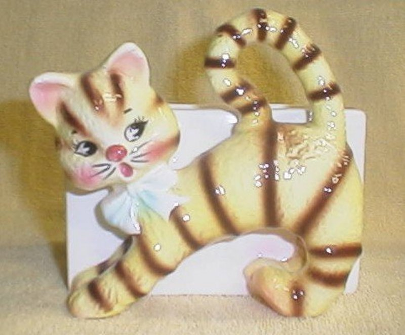 Relpo Yellow Striped Cat Planter