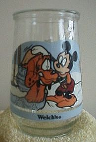 Welches Mickey and Pluto Jelly Jar