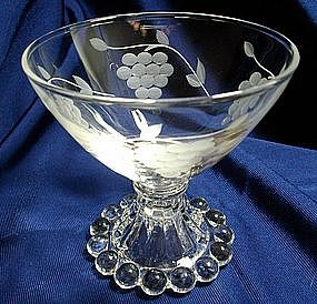 Standard/Anchor Hocking Grape Pattern Etched Boopie