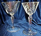 Libbey Rock Sharp Crystal Stemware Windswept