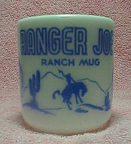 Hazel Atlas Ranger Joe Ranch Mug