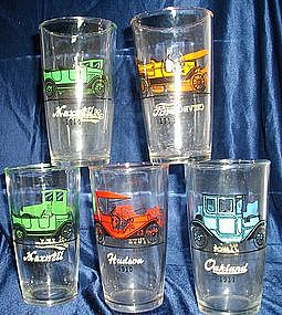 Hazel Atlas Cars Glass Tumblers