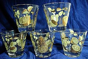 Fruit Motif Glass Tumblers