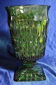 Indiana Mt. Vernon Green Water Goblet