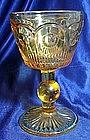 Tiffin/Franciscan Bulls Eye Amber Wine Glass