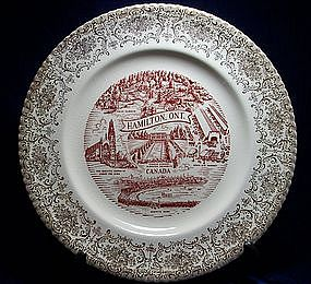 Vintage Hamilton Ontario Collectible Plate