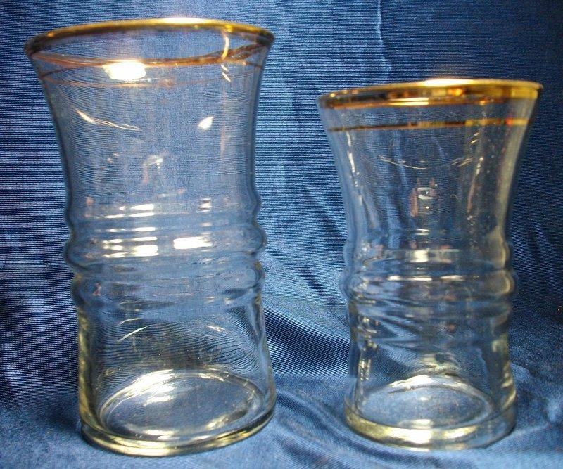 Libbey Gold Rim Glass Tumblers