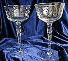 Vintage Blown Cut Crystal Stemware