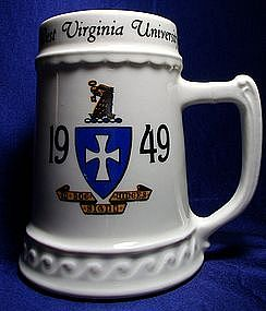 Nassau China WV University 1949 Ceramic Stein