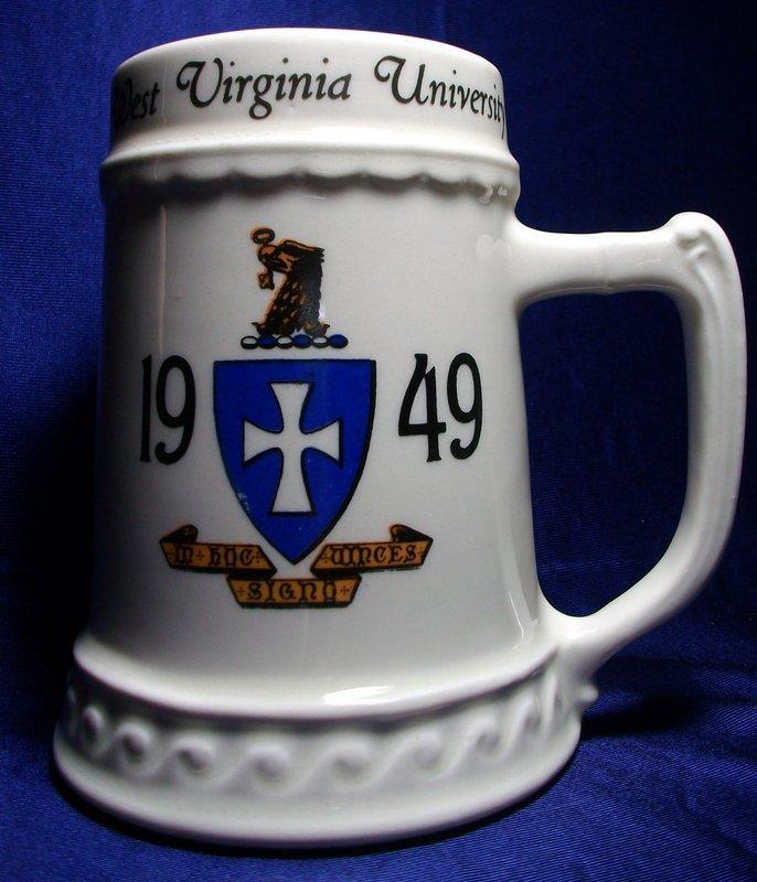 Nassau China WV University 1949 Ceramic Stein