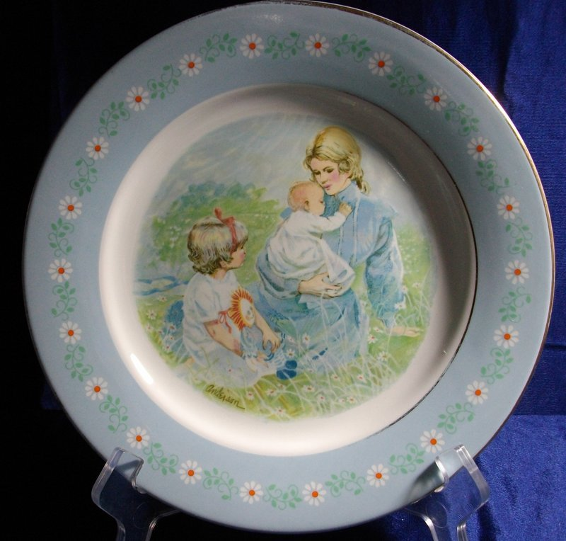 Avon Tenderness Commemorative Plate 1974