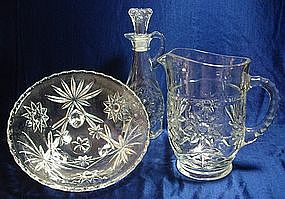 Anchor Hocking Star of David Pattern Glassware